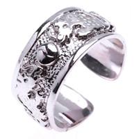 Nhẫn nam bạc song long châu Thao Linh Jewelry