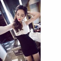Hot!! Đầm Cột Nơ Cổ Quyến Rũ