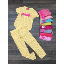 Bộ mặc nhà tay ngắn chấm bi PINK