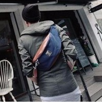 DC029 - Túi đeo Messenger vải phối da thời trang 2016 Praza