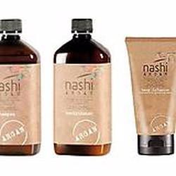 Set 3 Dầu gội xả hấp dưỡng phục hồi tóc Nashi Argan 200ml