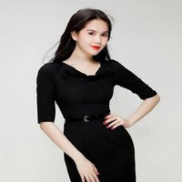 Đầm body đen sang trọng kiểu cổ đổ sành điệu DOV653