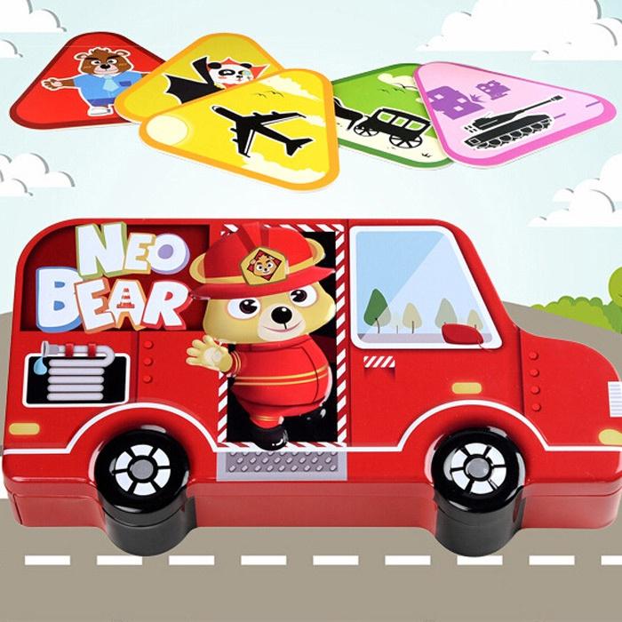 Đồ chơi thông minh - Card 3D NeoBear Pocket Vehicles bản giao thông 3
