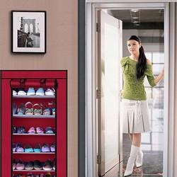 Tủ vải để giày dép 6 tầng màu đỏ mận