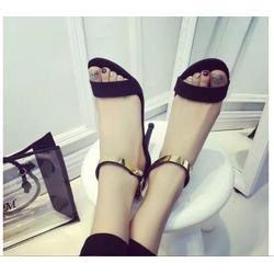 Sandals cao gót nữ, thiết kế dây quai ngang