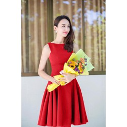 Đầm Xòe Xếp Ly  Xinh Như Ngọc Diễm