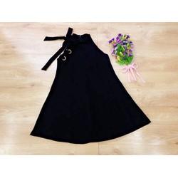 Đầm yếm xòe dây cột