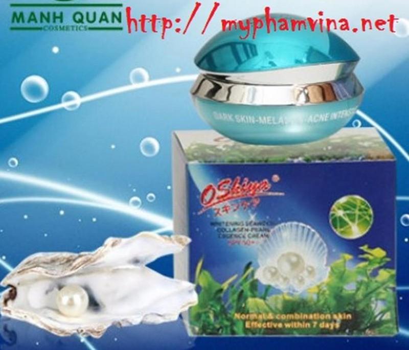 Kem dưỡng trắng da Oshiya Collagen Rong Biển Ngọc Trai 2