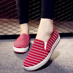 Free ship- Giày lười sọc đi bộ đánh cầu lông slip-on hàng nhập