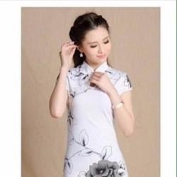 Đầm công sở họa tiết hoa hồng xinh xắn thiết kế ôm dáng đẹp DOV663