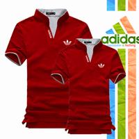 Áo Cặp Adidas Cổ Trụ AD_đỏ