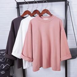 [Hàng Nhập] Áo T shirt tay lỡ, vạt xẻ