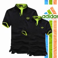 Áo Cặp Adidas Cổ Trụ AD_đen