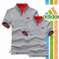 Áo Cặp Adidas Cổ Trụ AD_xám