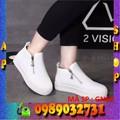 Giày thể thao nữ trắng phối kéo Poseidon cao 5 cm - ap shop - GN60