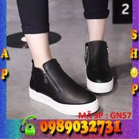 Giày Bánh mì đế cao 5cm phối kéo hàn quốc - ap shop - GN57
