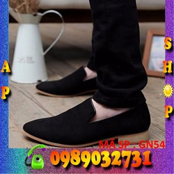 Giày lười nam đen form Ý cao cấp - ap shop - GN54