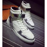 giày dạo phố cổ cao chữ thập Mã: GH0240 - TRẮNG