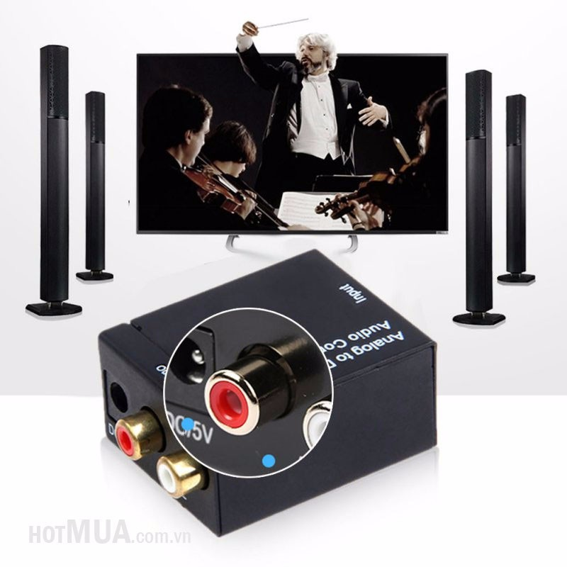 Bộ chuyển OPTICAL sang AUDIO AV - OPTICAL sang AUDIO AV 8