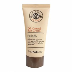 KEM CHỐNG NẮNG CLEAN FACE OIL CONTROL  SPF35 THE FACE SHOP