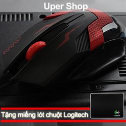 Chuột quang Uper Vivo 9 + Tặng lót chuột Logitech