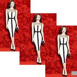 Đầm ôm body sọc đen trắng cá tính-V010
