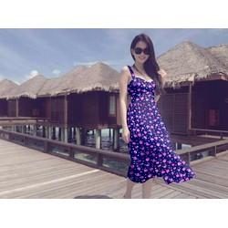 Đầm Maxi Hoa Nhí 2 Dây Xinh Như Ngọc Trinh - D2726
