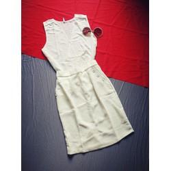 Set bộ áo váy trắng siêu sang