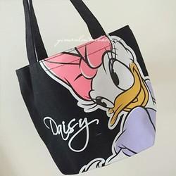 Túi xách Mickey 2 mặt xuất Nhật hàng chuẩn đầy đủ tag mác