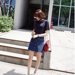 Hàng nhập cao cấp: Chân váy Jeans chữ A, hàng khuy giữa