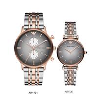 """Đồng hồ đôi Armani AR1721 và AR1725 """"Cặp đôi hoàn hảo"""""""