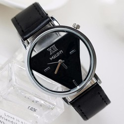 Đồng hồ đeo tay thời trang, thiết kế mặt tam giác cá tính độc đáo