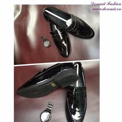 Giày nam công sở da bóng lịch lãm sang trọng GDNHK170