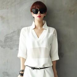 Áo voan nữ thời trang, thiết kế sang trọng, kiểu dáng nữ tính.