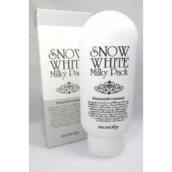 Kem Tắm Trắng Và Dưỡng Trắng Snow White Milky Pack Secret Key