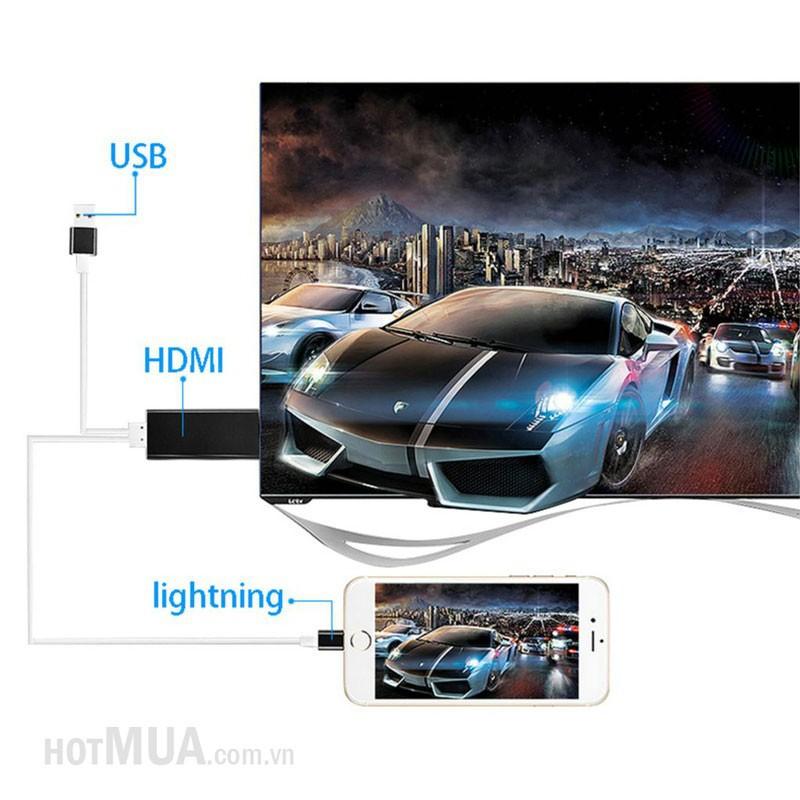 Cáp iPhone 5-6 to HDMI - iPhone 5,6,6plus-iPad 5,6, iPad Pro 1