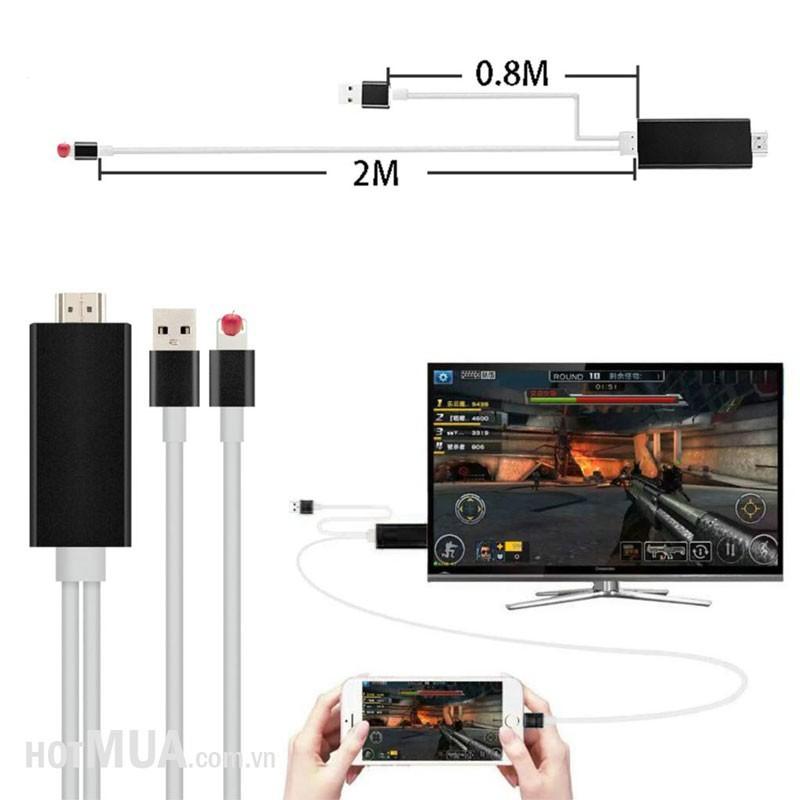Cáp iPhone 5-6 to HDMI - iPhone 5,6,6plus-iPad 5,6, iPad Pro 3