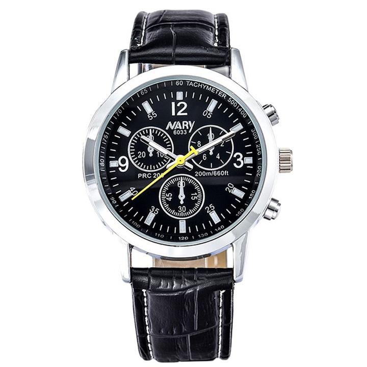 Đồng hồ dây da Nary AL75 6