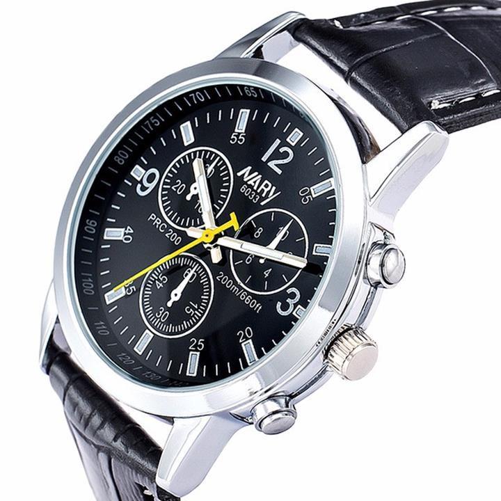 Đồng hồ dây da Nary AL75 7