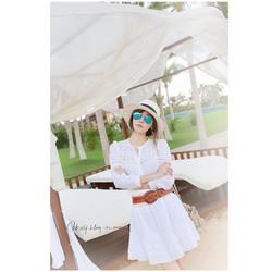 Đầm trắng tiểu thư phối ren