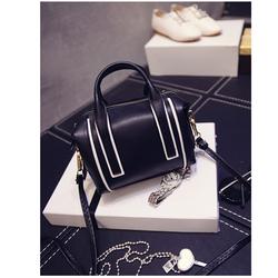 Túi xách đẹp viền 2 màu thời trang trẻ trung quyến rũ màu đen