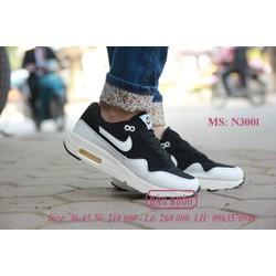 giày thể thao nữ air max đen trắng