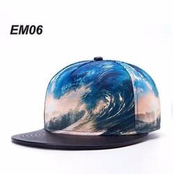 Mũ nón Snapback vân sóng xanh