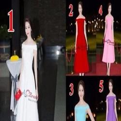 Đầm xòe bẹt vai đi tiệc xinh đẹp chất vải cao cấp DXV154