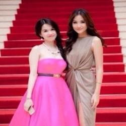 Đầm xòe đi tiệc cúp ngang màu hồng dễ thương nổi bật DXV133