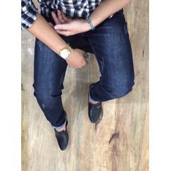Quần jeans nam skinny xước nhẹ đơn giản hàng cao cấp