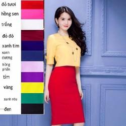 Chân váy bút chì suông lưng cao Ngọc Trinh CV10