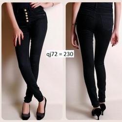 Quần jean đen lưng cao 5 nút QJ72