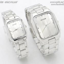 Đồng hồ đôi Wilon dây inox sang trọng. Giá một đôi - Mã số: DHD1602