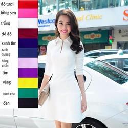 Đầm Cổ Sơ Mi Phong Cách Tiểu Thư D931